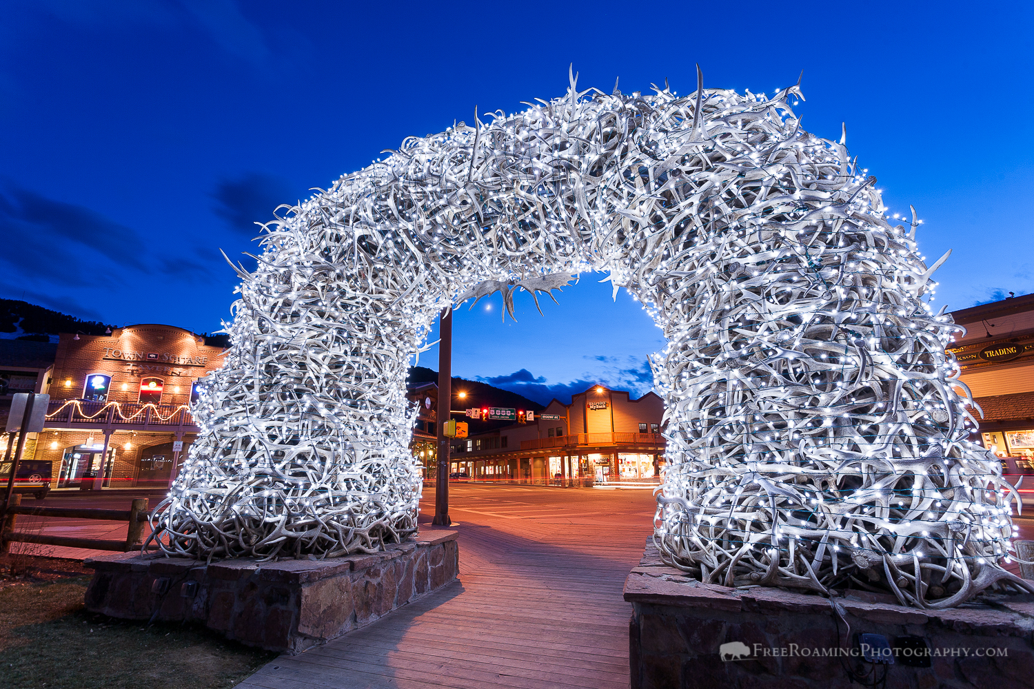 Jackson Hole's Antler Arch